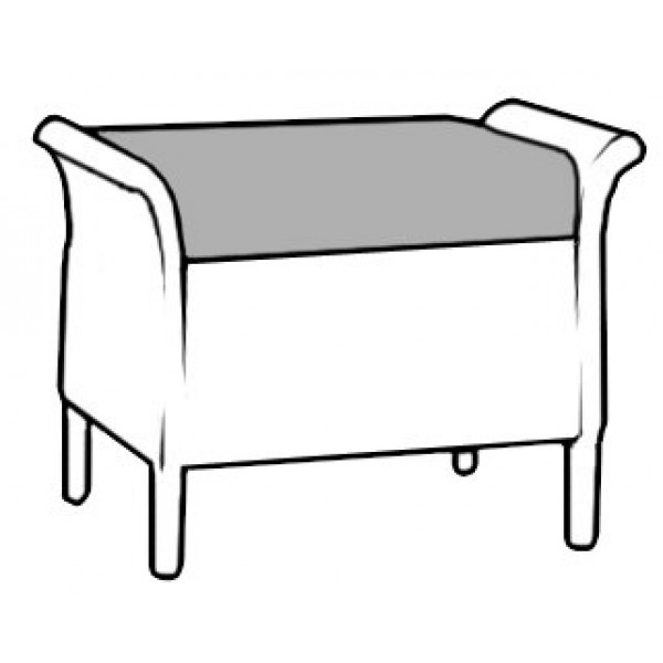 Babbington Footstool ST084 Drawing 6