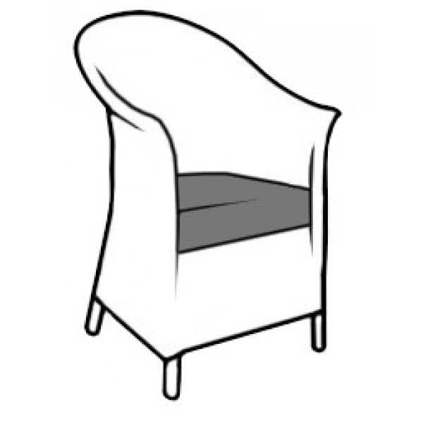 Belvoir Chair with Cushion C002D Drawing 6