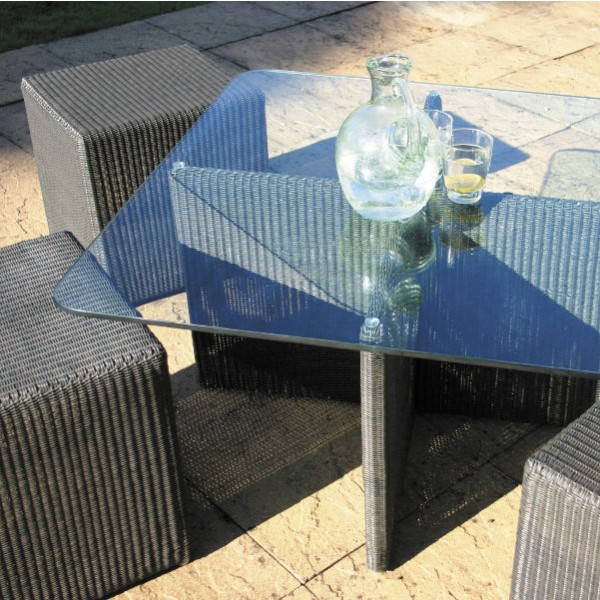 Cordoba Outdoor Low Table 4 Cube Set 2