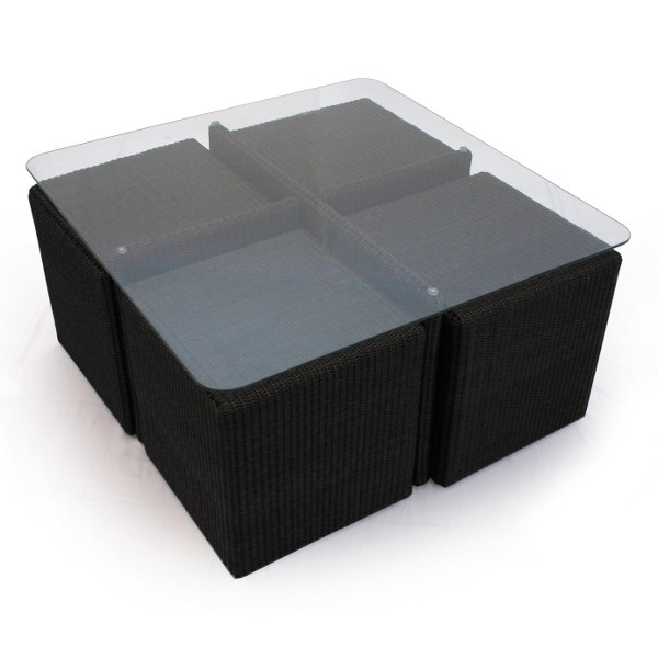 Cordoba Outdoor Low Table 4 Cube Set 3