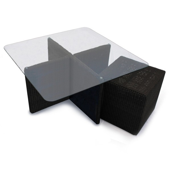 Cordoba Outdoor Low Table 4 Cube Set 5