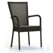 Bantam Stuhl mit Armlehnen im Freien