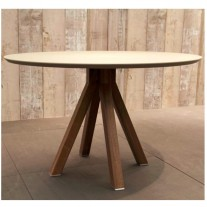 Mika Dining Table with Painted Top