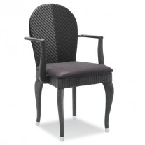Opera Chair with Armrests and Loom Back