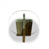 Spirit Dining Table Round Reclaimed Oak