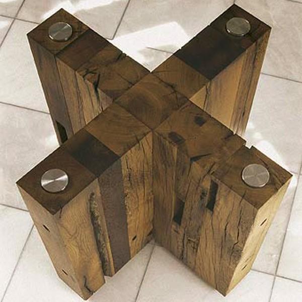 Spirit Dining Table Oval Reclaimed Oak 2