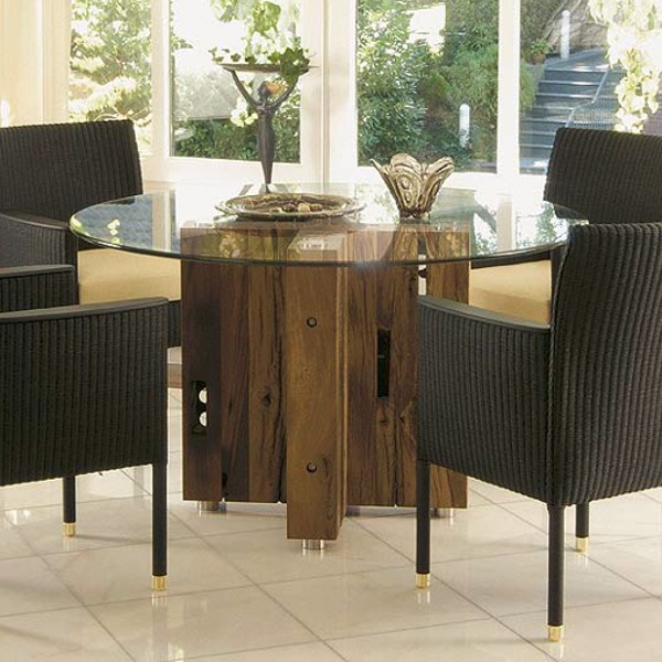 Spirit Dining Table Round Reclaimed Oak 1