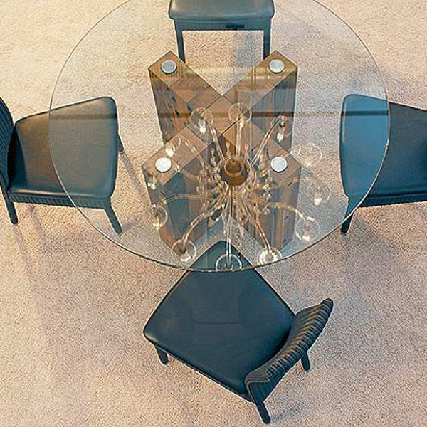 Spirit Dining Table Round Reclaimed Oak 2