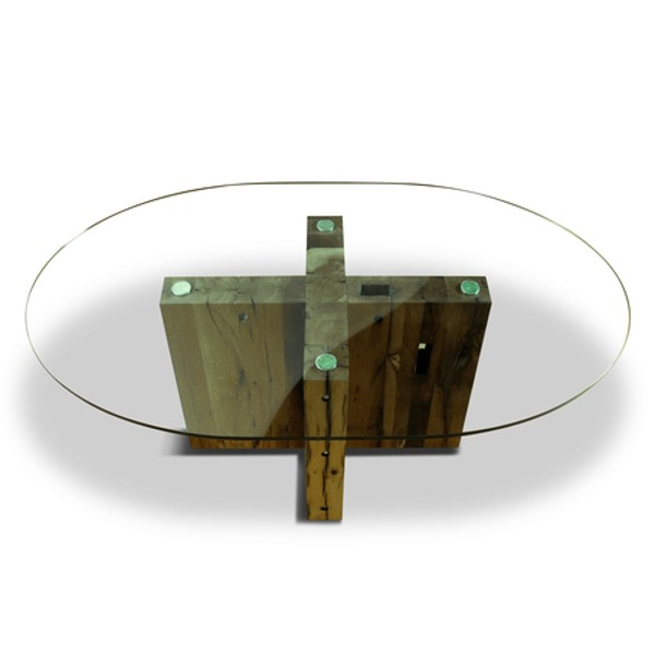 Spirit Dining Table Oval Reclaimed Oak 3