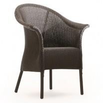 Burghley Sessel mit Schurze und Unterpolsterten Loom-Sitzfläche